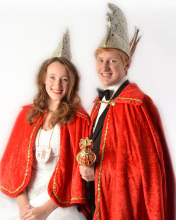 Prinz Christian I. Schauspieltänzer von der Volleybühne und Prinzessin Madeleine I. Hockeygirl von der Prinzenburg