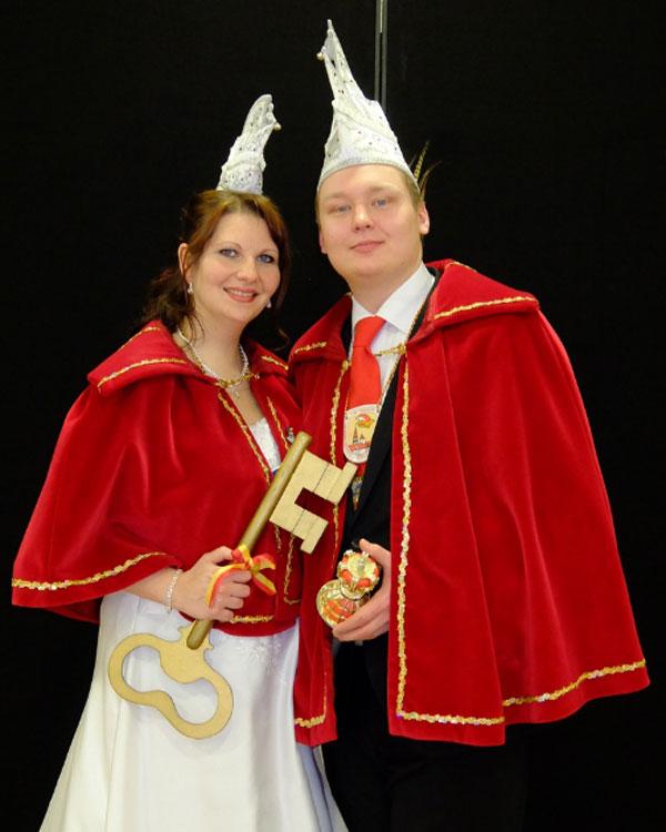Prinz Michael II. Zwerchfellking vom Gsteinigt und Prinzessin Inge I. Tanzendes Wienerkätzchen vom Kräuterdorf