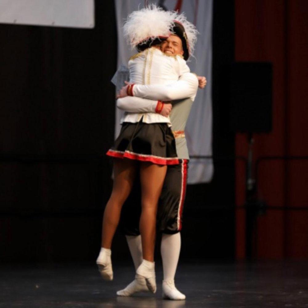 Ü15-Tanzpaar Lena Meyer und Renè Skorupa