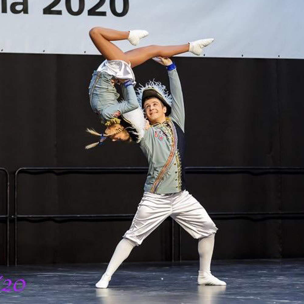 Ü15-Tanzpaar Sarah Meyer und Tim Schultz
